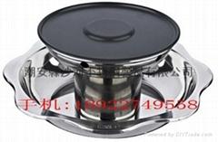Stainless Steel shabu shabu Hot pot,Nonstick BBQ Yuanyang Hot pot