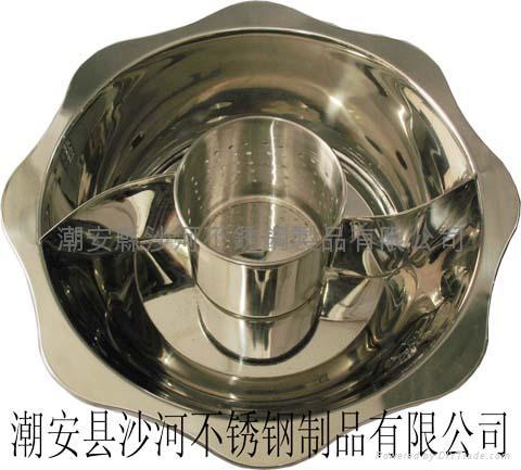 不鏽鋼子母鴛鴦兩味鍋 2