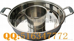 Stainless Steel Shabu Shabu Pan With compound Bottom