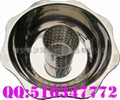 Central pot with hole for stainless
