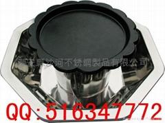 Octagonal Style Yuanyang Barbecue Hot pot,Mongolian Shabu shabu hot pot