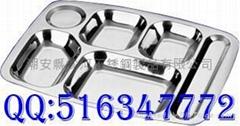 304不锈钢快餐盘