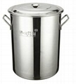 kitchen s/s food containers 18/10 with difficult to rust Sanitary and Durable 3