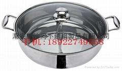 Stainless steel Hot pot Mongolian Hot pot/double-flavor hot pot