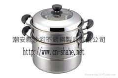 combined steamer pot set,2-Tier Steamer Set
