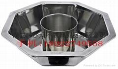 Octagonal Style shabu shabu hot pot,stainless steel pot in pot