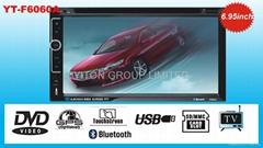 6.95寸双定车载DVD/AM/FM/BT/USB/SD播放机 F6061A