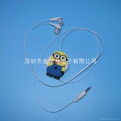 卡通标志伸缩样式礼品耳机