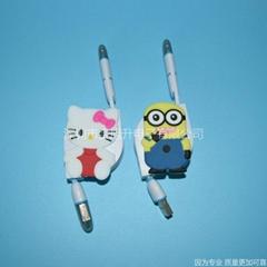 一出二多功能可做礼品印标志的手机充电线