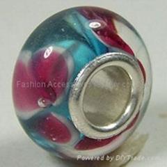 Silver-Plate Single Core Glass Beads