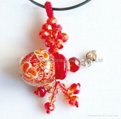 Lampwork Glass Essential Oil perfume Bottle Pendant
