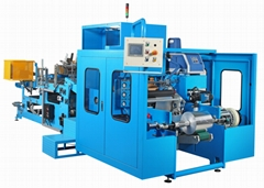 全自動六軸複捲機 + 全自動收縮膜包裝機