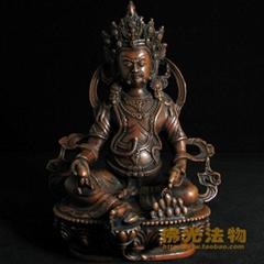 七寸純銅佛像黃財神