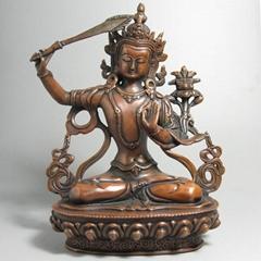 文殊菩薩純銅佛像七寸