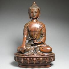 釋迦牟尼佛純銅佛像七寸