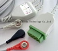 ECG cable with 3 leads for GE
