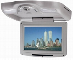 Roof mounted car dvd player