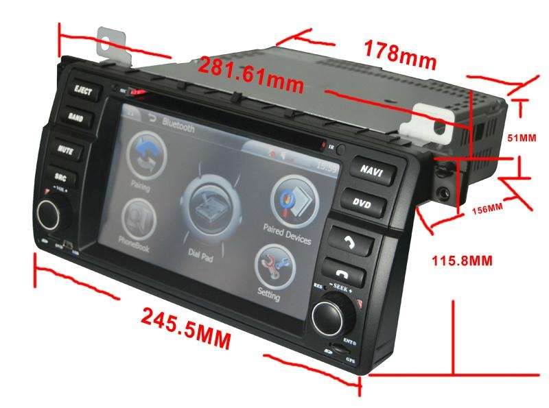 Touch screen car dvd for bmw e46 1