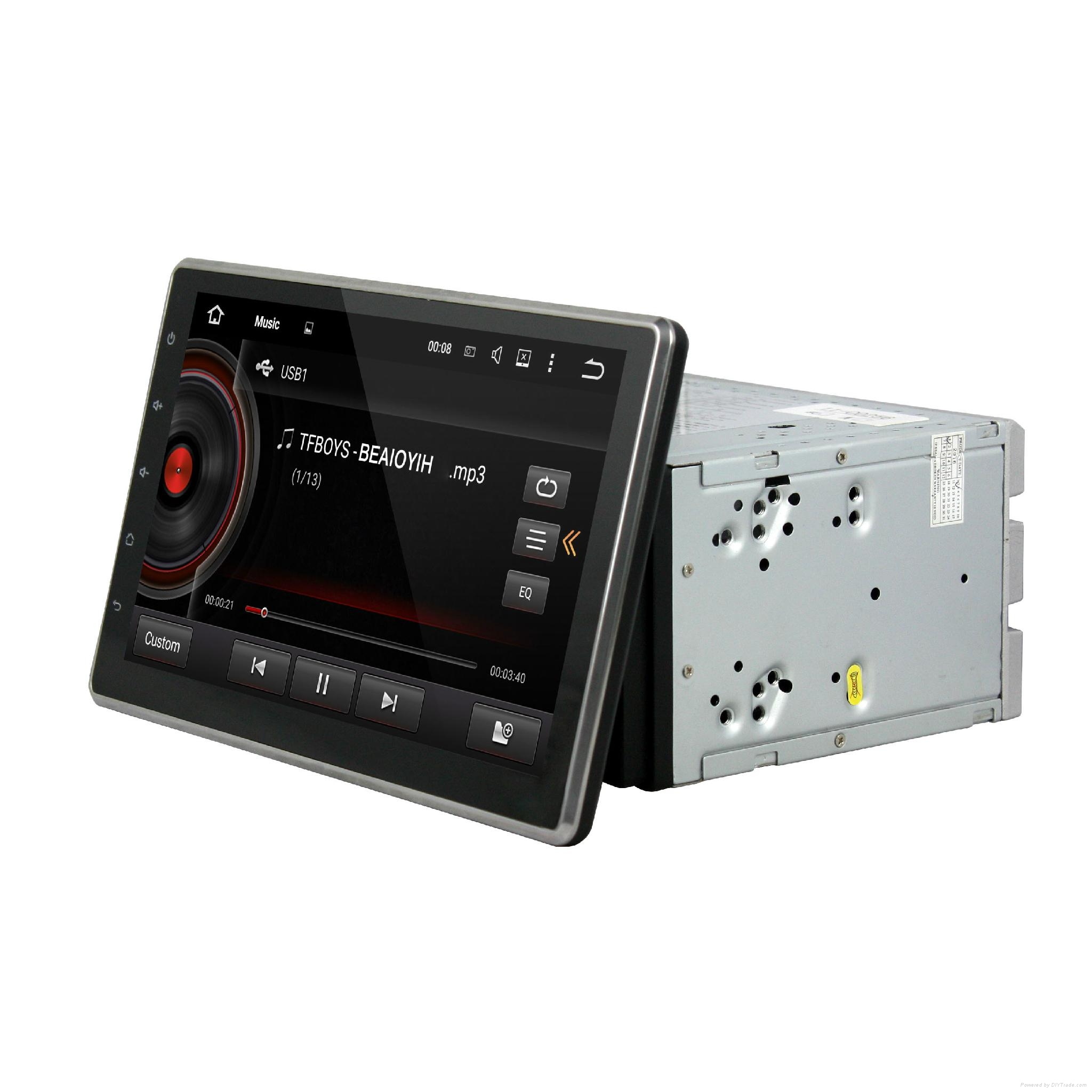 DVD car android with 10.1 inch touch screen and slide down monitor 2