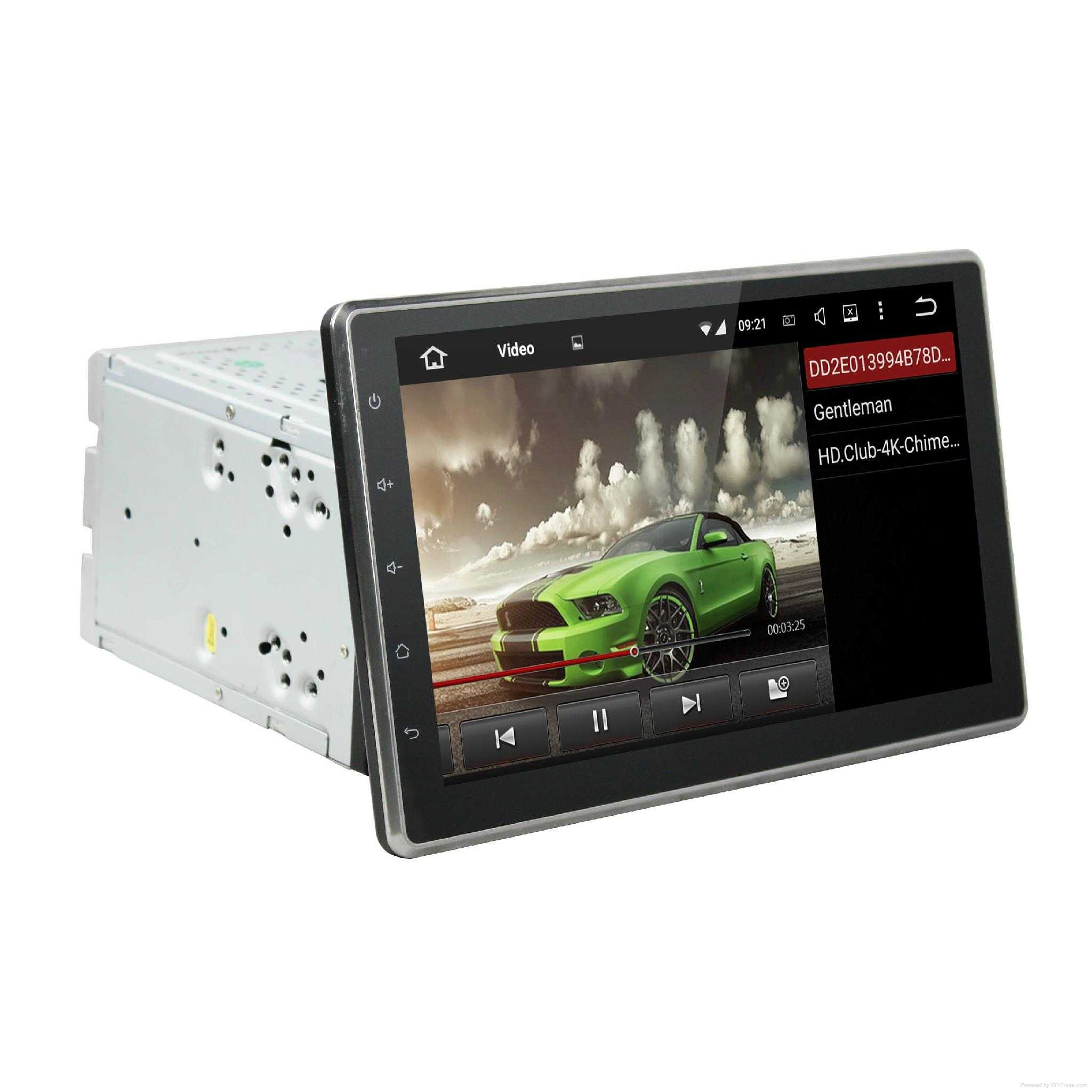 DVD car android with 10.1 inch touch screen and slide down monitor 3