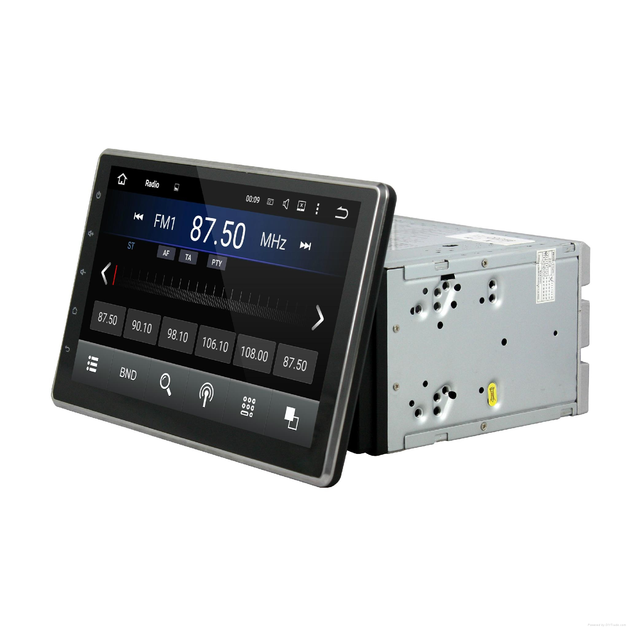 DVD car android with 10.1 inch touch screen and slide down monitor 4