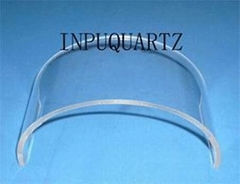 Clear quartz tube with h