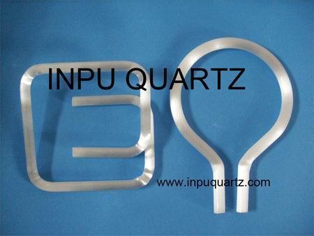 Milky quartz tube for heater with any sharp 2