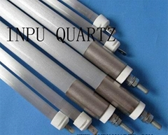 Far infared quartz heater elements and quartz heater tubing