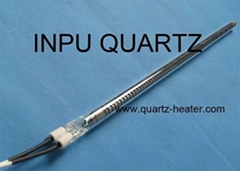 Carbon fiber quartz heate with one end