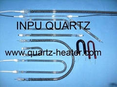 Carbon heater elements and carbon fiber quartz tubing with U sharp