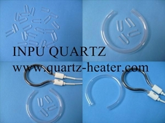U sharp quartz tube for