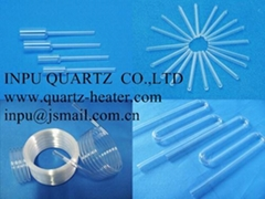 Fused quartz tube with f