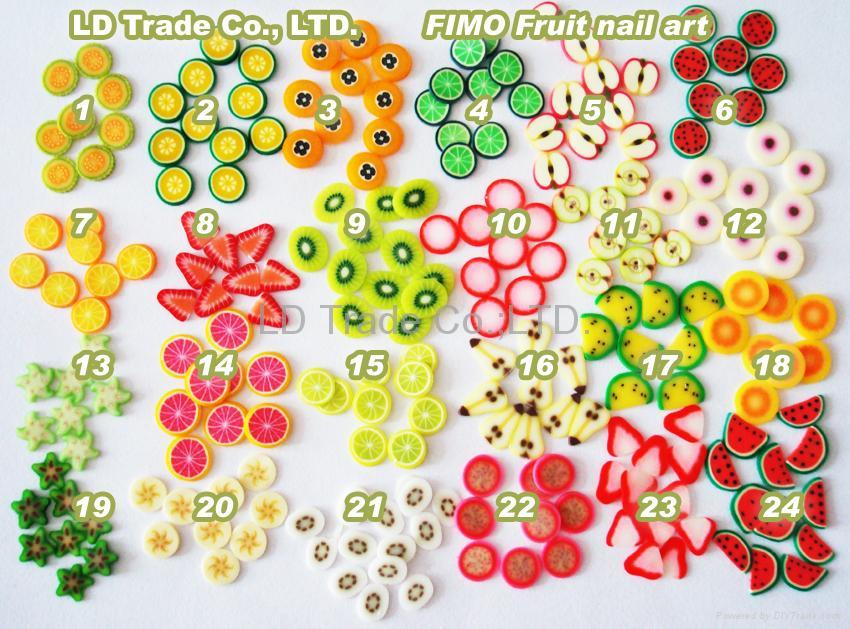 FIMO Polymer Clay Fruit Slice Nail Art Nail Care China
