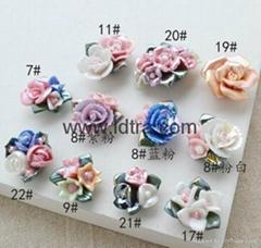 mini porcelain ceramic flower