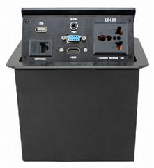 L0416  (HDMI)氣壓式桌麵線盒/隱藏高級桌面插座/多功能桌面插座