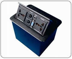 L0410   鋁合金彈壓式插座/多功能桌面插座/氣杆式桌麵線
