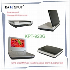 Portable widescreen HD signal test alarm satellite finder