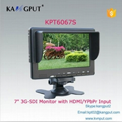 7 inch LED Monitor (HD-SDI HDMI YPbPr AV input)