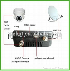 Satellite Finder Signal Test And AHD CCTV Monitor KPT-955G+