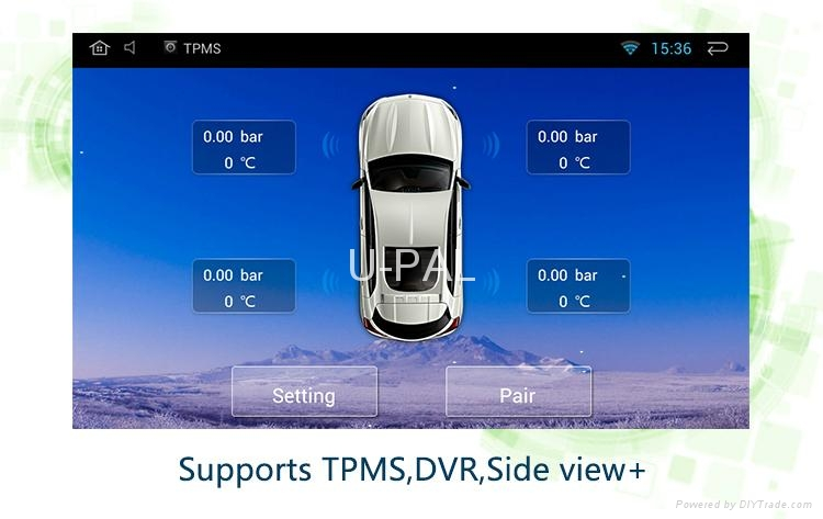 Deckless Car GPS Navigation System for 7inch Android 4.4.4 Universal with TPMS 4