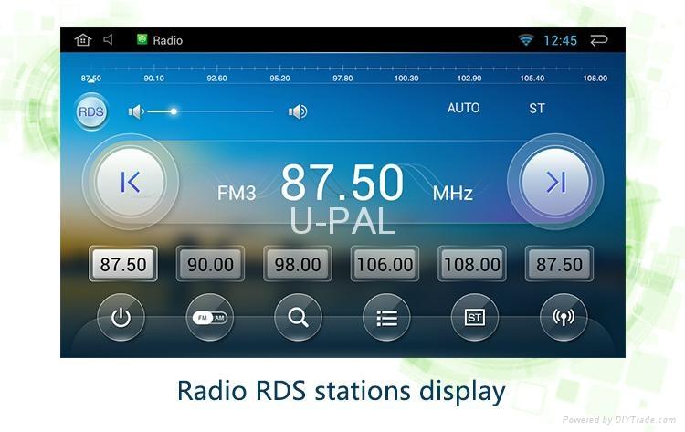 """10.1"""" Android 4.4 Full Touch 1024x600 Car GPS Navi DVR TPMS For Toyota RAV4 2014 3"""