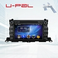 2DIN In Dash Car stereo for Toyota Highlander 2015 with radio RDS+dvd+gps+dvr+3G 2