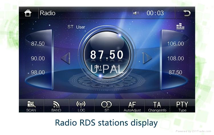 """7"""" In dash Car DVD Player GPS Navigation system+RDS+Bluetooth for Ford Fiesta  3"""