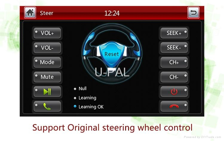 """OE Fit Car DVD GPS navigation system for 7"""" VW universal with VW original car UI 5"""