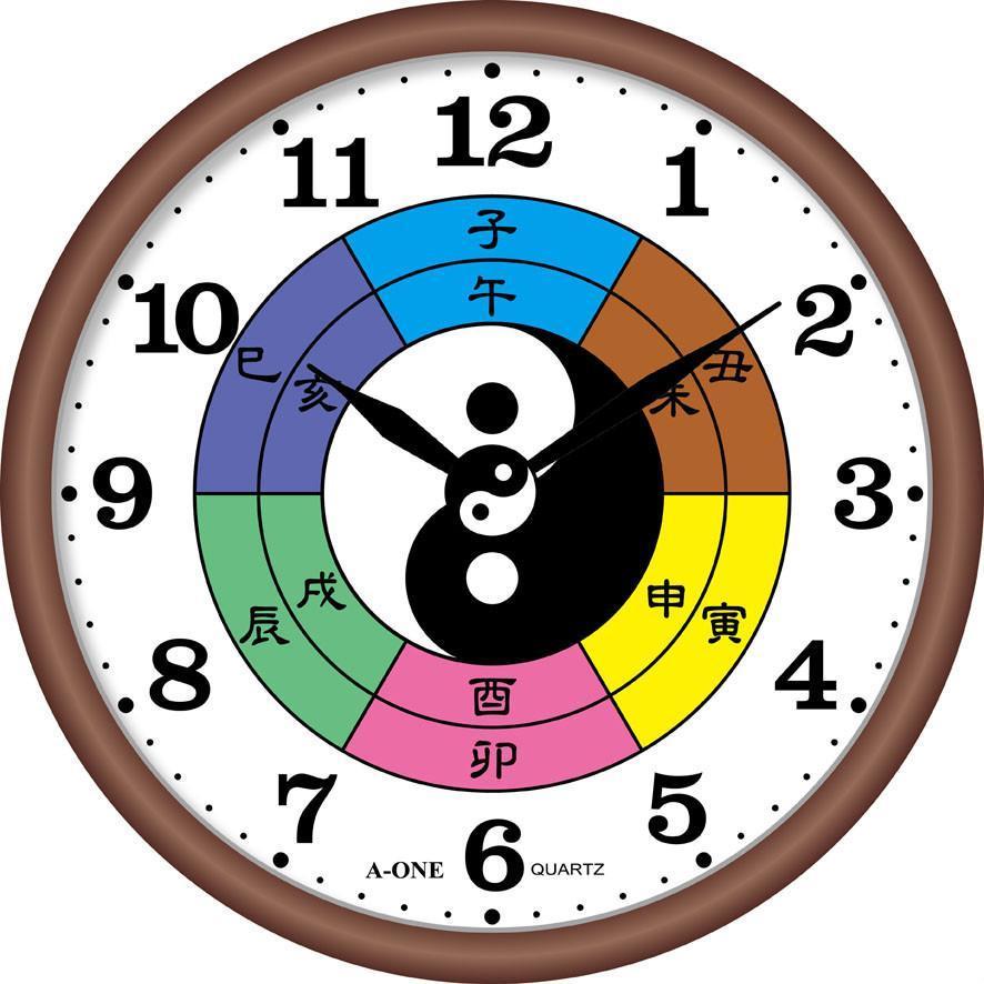 TG-0568  八卦靜音掛鐘(兩儀秒盤會轉) 1