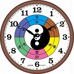TG-0568  八卦靜音掛鐘(兩儀秒盤會轉)