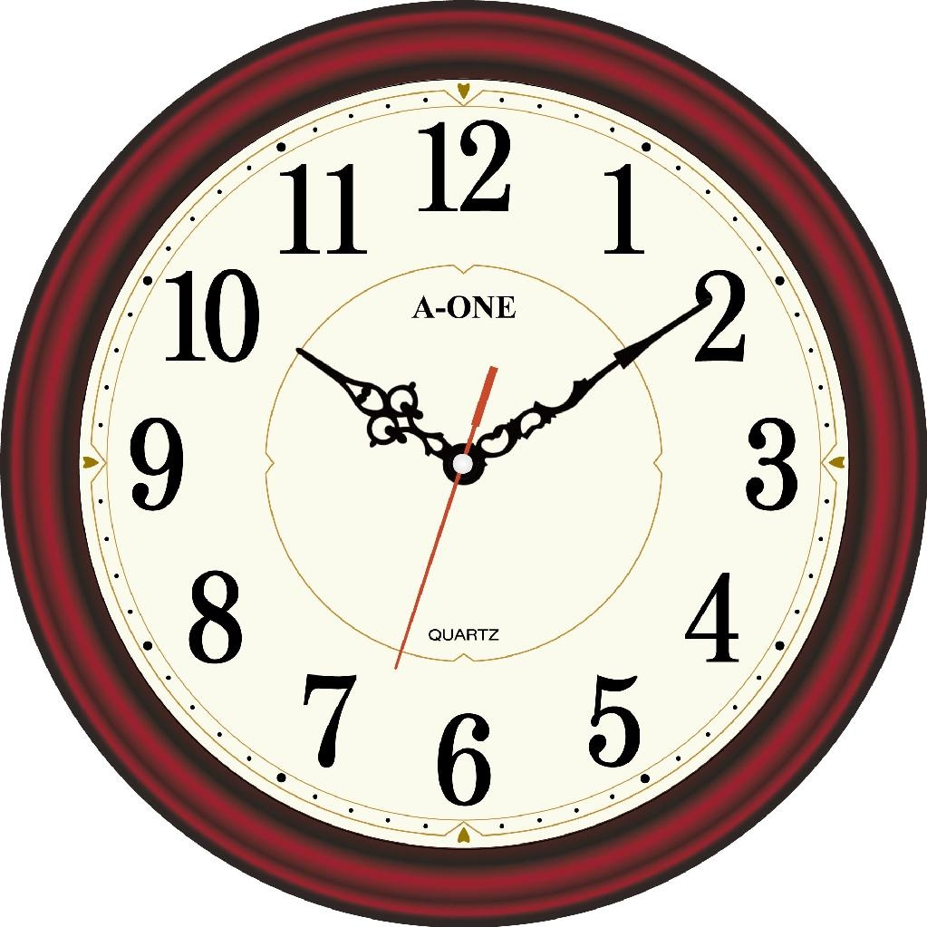 TG-0579 Antique Red-Wood Wall clock 1