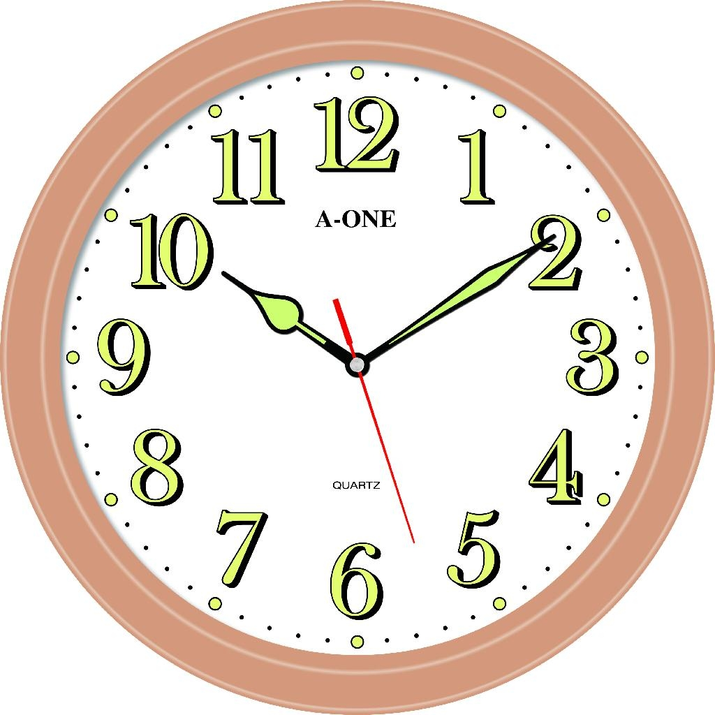 TG-0582 Luminous Number Wall Clock 1