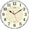 TG-0585  印花素雅壓紋小掛鐘