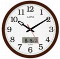 TG-0228核木纹双显大挂钟